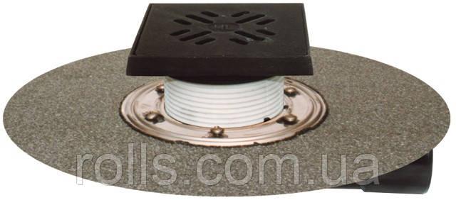 HL81GH Трап для балконов и террас DN50/75 ,с морозоустойчивой запахозапирающей заслонкой