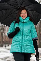 Женская куртка цвет мята, весна-осень, большого размера 54,56,78,80р, фото 2