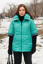 Женская куртка цвет мята, весна-осень, большого размера 54,56,78,80р, фото 3