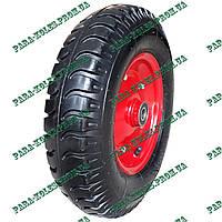 Колесо для тачки 4.00-8 пневматическое, под ось 20 мм, с толстой шиной