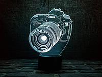 """Сменная пластина для 3D светильников """"Фотоаппарат"""" 3DTOYSLAMP, фото 1"""