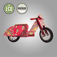 Беговел деревянный  Solid Design Sofia Красный