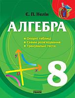 Нелин Е.П. Алгебра  8 кл. Опорні таблиці, схеми розв'язування, тренувальні тести