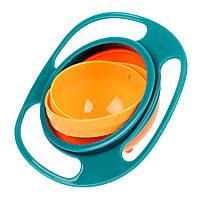Миска неваляшка Baby Gyro Bowl Жёлто-голубая