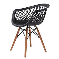 Кресло обеденное пластиковое  Lace Concepto Чёрное (ZL-PC70H-BLACK)