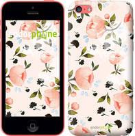Чехол на iPhone 5c Розы акварелью