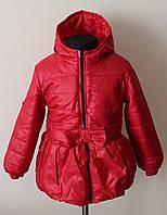 Куртка на девочку демисезонная,детская 1-4 года с ярким принтом, фото 1