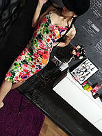 Крутое платье  цветочном принте, фото 1