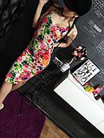 Крутое платье  цветочном принте