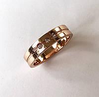Женское кольцо Лазурное с камнями, размер 19