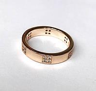 Женское кольцо 4 камня по кругу, размер 17