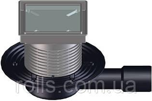 HL90-3020 Трап под керам. плитку для балконов и террас, с гор. DN40/50, с мех. запахозапирающим клапаном