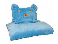 Детское полотенце с капюшоном Dream Towels Медвежонок 76х92 Голубой (dm-1014)