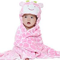 Детское полотенце с капюшоном Dream Towels Жирафчик 76х92 Розовый (dm-1012)