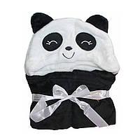 Детское полотенце с капюшоном Dream Towels Панда 76х92 Черный (dm-1007)