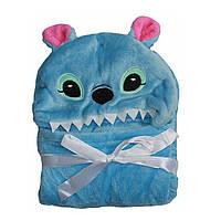 Детское полотенце с капюшоном Dream Towels Стич 76х92 Голубой (dm-1005)