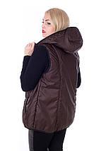 Женский жилет из плащевки Канада 54-64рр шоколад, фото 2