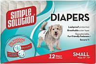 Simple Solution Disposable Diapers, Small, 12 шт - подгузники для собак малых пород