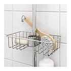 Полка для ванной IKEA VOXNAN 25x6 см хромированный 703.285.89, фото 2