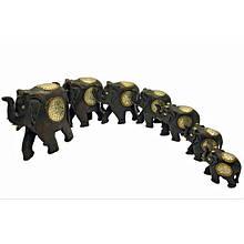 Набор деревянных статуэток Слоны