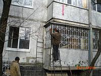 Решетка на окно сварная с элементами ковки - 63