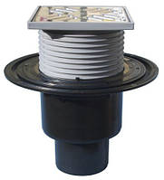 HL310N.2 Трап для внутренних помещений DN50/75/110 вертикальный 123х123мм/115х115мм, фото 1
