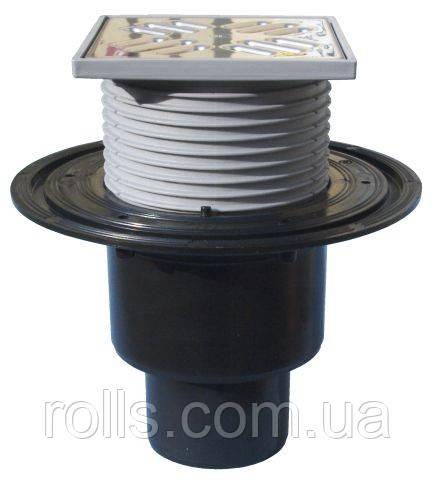 HL310N.2 Трап для внутренних помещений DN50/75/110 вертикальный 123х123мм/115х115мм