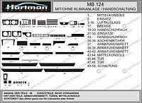 Mersedes E-klass W124 накладки на панель Hartman цвет темный шпон