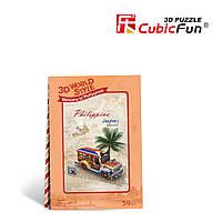 Трехмерная головоломка-конструктор Cubic Fun Филиппины Экскурсия на джипе (W3147h)
