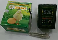 Цифровой терморегулятор для инкубатора ЦЫП-ЦЫП до 2кВТ под розетку, фото 1