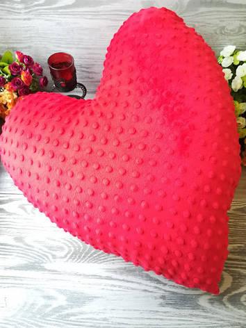 Подушка плюшевое сердце большое,  55 см * 55 см, фото 2