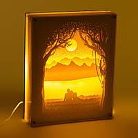 Светильник картина 3D Романтика Белый