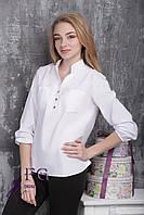 "Блузка женская ""Franklin"" (батал): распродажа модели белый, 50-52"
