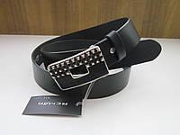 Кожаный ремень REMAR 40 мм чёрный
