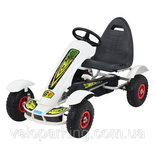 Веломобиль детский педальный карт G1 (надувные колеса) 2018 new