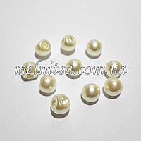 Пуговицы-жемчужины круглые 6 мм, кремовый (10 шт)