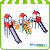 Детский комплекс KIDIGO™ Стена, высота горки 1,2 м и 1,5 м