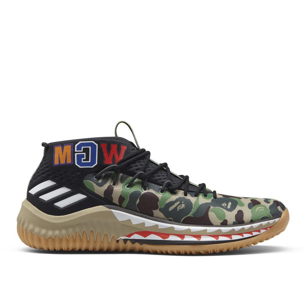оригинальные кроссовки Bape X Adidas Dame 4 в категории кроссовки