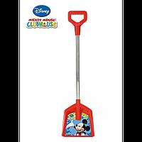 Лопата с железной ручкой Микки Маус арт. 77123, детская лопатка, игрушка для игр со снегом и песком