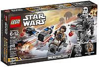 Конструктор LEGO Star Wars Микроистребитель летающий мотоцикл против Ходуна Первого Ордена 216 деталей (75195)