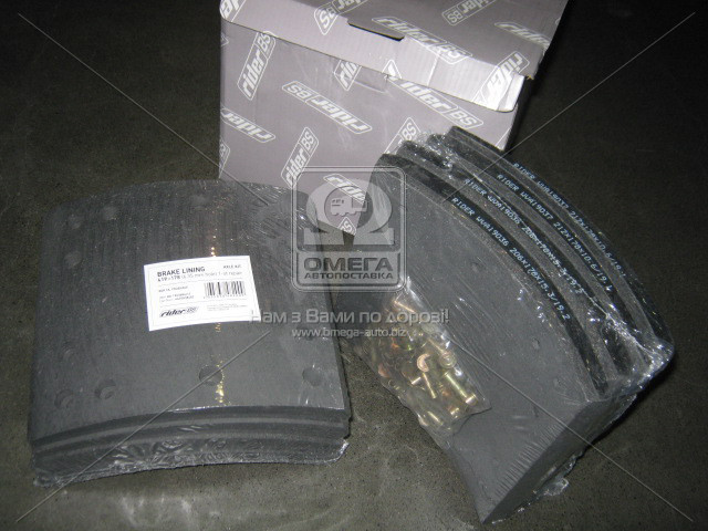 Накладка гальмівна комплект на вісь 419х178 Отв. 6,35 мм 1-й ремонт ROR TA, FRUEHAUF (RIDER)