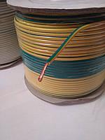 Провод монтажный ПВ3 2,5кв.мм. (CCA),длина 100м,цвет жёлто-зелёный
