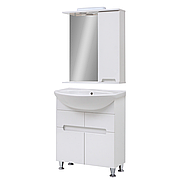 Мини-комплект мебели для ванной комнаты Марко 70 с зеркальным шкафом Z-1-70 Юввис