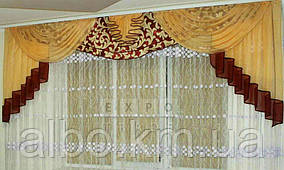 Ламбрекен шифоновый с тканью блэкаут Zelinda