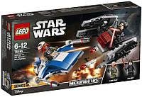 Конструктор LEGO Star Wars Истребитель типа A против бесшумного истребителя СИД 188 деталей (75196)
