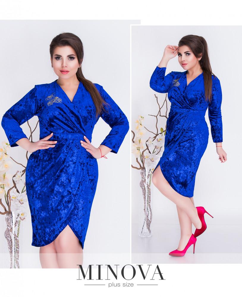 74d8a8148e0 Вечернее платье из бархата (размеры 48-56) - Интернет-магазин «ПЕРЕМЕНА
