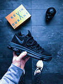 Мужские кроссовки Найк Nike (реплика) Zoom KDX Blk Dark Grey чёрные