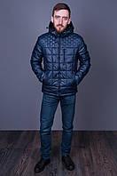Мужская куртка демисезонная синяя 8292