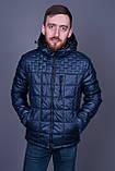 Чоловіча демісезонна стьобана куртка Black Wolf, синього кольору, фото 2