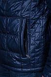 Чоловіча демісезонна стьобана куртка Black Wolf, синього кольору, фото 4